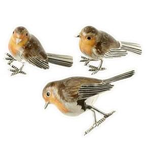 Zierfiguren Vögel in echt Sterling-Silber 925 emailliert, Standmodelle