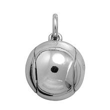 Anhänger Tennisball in echt Sterling-Silber 925 und Gold, Ketten- oder Schlüssel-Anhänger