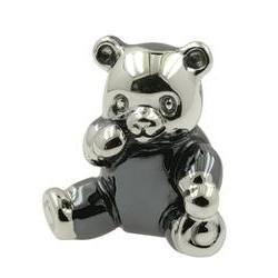 Zierfigur Teddybär in echt Sterling-Silber 925, Standmodell