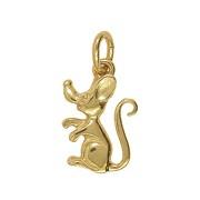 Anhänger Maus in echt Sterling-Silber 925 oder Gold, Charm, Ketten- oder Bettelarmband-Anhänger