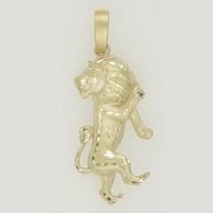 Anhänger Löwe, Tierkreiszeichen, Sternzeichen in echt Sterling-Silber 925 oder Gelbgold, Ketten- oder Schlüssel-Anhänger