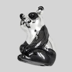 Zierfigur Pandabär in echt Sterling-Silber 925, Standmodell
