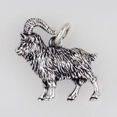 Anhänger Ziegenbock in echt Sterling-Silber oder Gold, Schlüsselanhänger oder Kettenanhänger