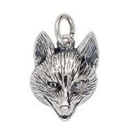 Anhänger Fuchskopf in echt Sterling-Silber oder Gold, Charm, Ketten- oder Bettelarmband-Anhänger