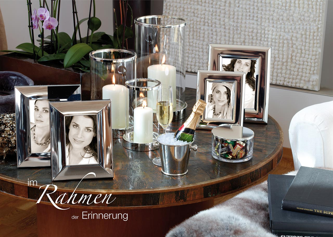 Fotorahmen, Bilderrahmen in echt Sterling-Silber 925