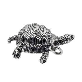 Anhänger Schildkröte in echt Sterling-Silber oder Gold, Ketten- oder Schlüssel-Anhänger