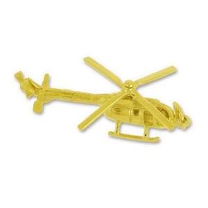 Anhänger Helikopter in echt Sterling-Silber 925 oder Gelbgold, Ketten- oder Schlüssel-Anhänger