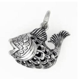 Anhänger Zierfisch in echt Sterling-Silber oder Gold, Kettenanhänger oder Schlüssel-Anhänger