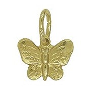 Anhänger Schmetterling, Falter in echt Sterling-Silber 925 oder Gelbgold, Charm, Ketten- oder Bettelarmband-Anhänger