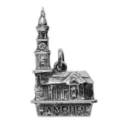Anhänger Hamburg, Hauptkirche Sankt Michaelis, Michel in echt Sterling-Silber 925 oder Gold, Charm, Ketten- oder Schlüssel-Anhänger
