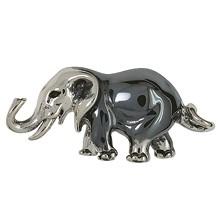 Zierfigur Elefant in echt Sterling-Silber 925 oder Gelbgold, Standmodell