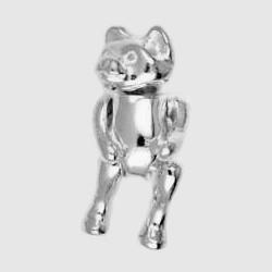 Anhänger Teddybär in echt Sterling-Silber 925 beweglich, Ketten- oder Schlüssel-Anhänger