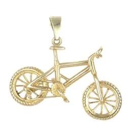 Anhänger Mountainbike, Geländefahrrad in echt Sterling-Silber 925 oder Gold, Ketten- oder Schlüssel-Anhänger