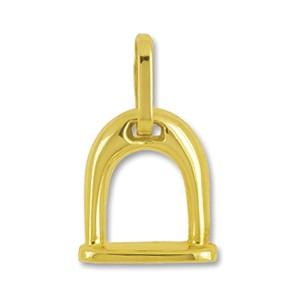 Anhänger Steigbügel in echt Gold, Charm, Ketten- oder Bettelarmband-Anhänger
