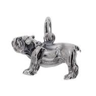 Anhänger Französische Bulldogge, Hund in echt Sterling-Silber 925 oder Gold, Charm, Ketten- oder Bettelarmband-Anhänger