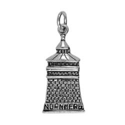 Anhänger Nürnberg, Dicker Torturm in echt Sterling-Silber 925 oder Gold, Ketten- oder Schlüssel-Anhänger
