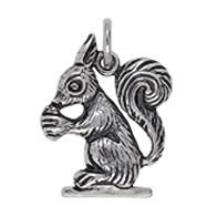 Anhänger Eichhörnchen in echt Sterling-Silber oder Gelbgold, Charm, Kettenanhänger oder Bettelarmband-Anhänger