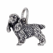 Anhänger Cocker Spaniel, Hund in echt Sterling-Silber 925 oder Gold, Charm, Ketten- oder Bettelarmband-Anhänger