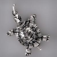Anhänger Schildkröte in echt Sterling-Silber 925 und Gold, Ketten- oder Schlüssel-Anhänger