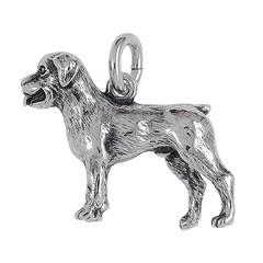 Anhänger Rottweiler, Hund in echt Sterling-Silber 925 oder Gold, Ketten- oder Schlüssel-Anhänger