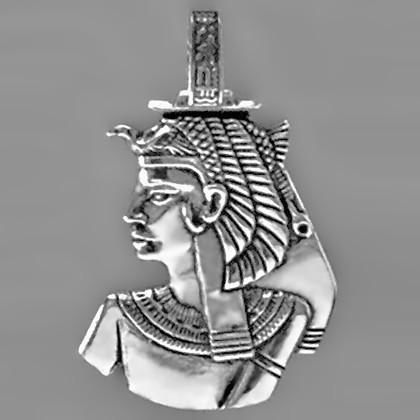 Anhänger Cleopatra in echt Sterling-Silber 925 und Gold, Ketten- oder Schlüssel-Anhänger