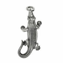 Anhänger Krokodile, Charms in Silber & Gold