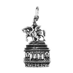 Anhänger Koblenz, Deutsches Eck, Kaiser Wilhelm I. Denkmal in echt Sterling-Silber 925 oder Gold, Charm, Ketten- oder Schlüssel-Anhänger