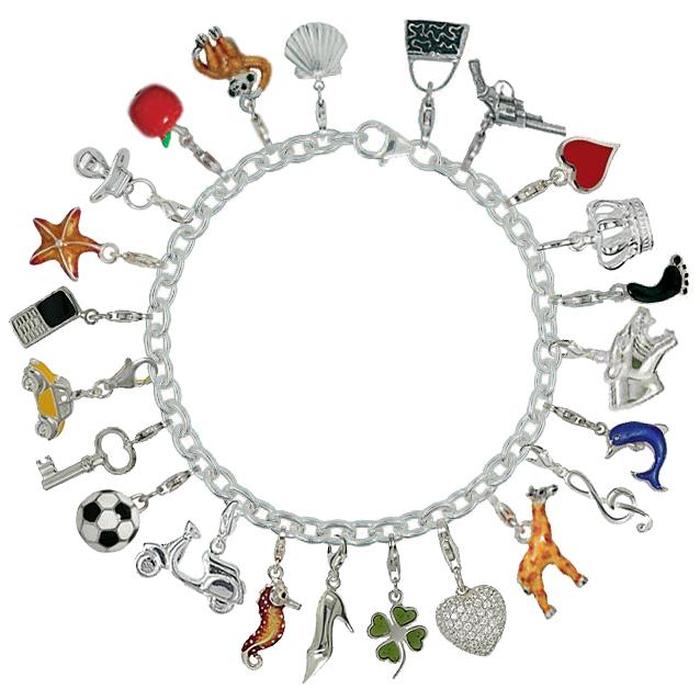 Bettelarmbänder für Anhänger, Chamrs in Sterling-Silber 925