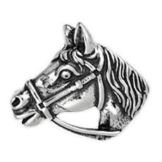 Brosche Pferdekopf in echt Sterling-Silber oder Gold, Silberbrosche, Goldbrosche