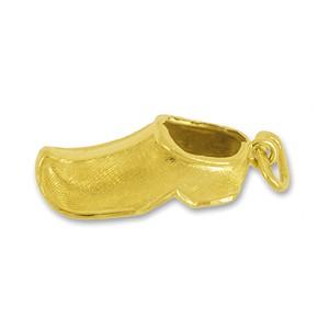 Anhänger Holzschuh in echt Gelbgold, Charm, Ketten- oder Bettelarmband-Anhänger
