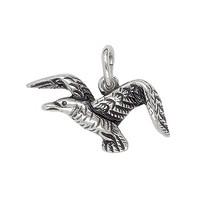 Anhänger Möwe in echt Sterling-Silber 925 oder Gold, Charm, Ketten- oder Bettelarmband-Anhänger