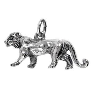 Anhänger Wolf in echt Silber 925 oder Gold, Charm, Ketten- oder Bettelarmband-Anhänger
