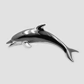 Zierfigur Delfin in echt Sterling-Silber 925, Standmodell