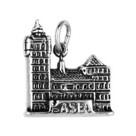 Anhänger Basel, Rathaus in echt Sterling-Silber 925 oder Gold, Ketten- oder Schlüssel-Anhänger