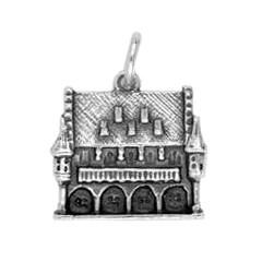 Anhänger Freiburg im Breisgau, Historisches Kaufhaus in echt Sterling-Silber 925 oder Gold, Charm, Ketten- oder Bettelarmband-Anhänger