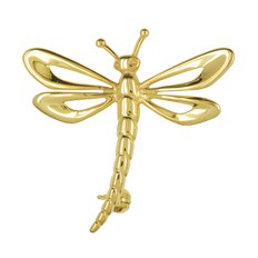 Brosche Libelle in echt Sterling-Silber 925 oder Gelbgold 333 oder 585