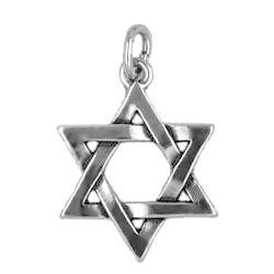 Anhänger Davidsterne, Charms in Silber und Gold