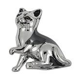 Zierfigur Katze in echt Sterling-Silber 925 oder Gelbgold, Standmodell klein
