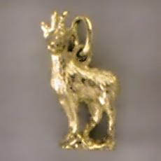 Anhänger Gämse, Gemse, Gams in echt Sterling-Silber oder Gold, Charm, Ketten- oder Bettelarmband-Anhänger
