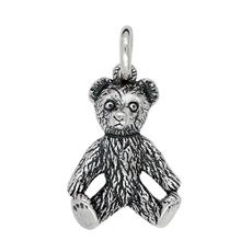 Anhänger Teddybären, Charms in Silber & Gold