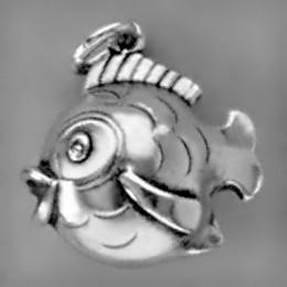 Anhänger Kugelfisch in echt Sterling-Silber oder Gold, Charm, Kettenanhänger oder Schlüssel-Anhänger