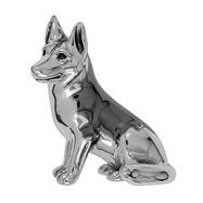 Zierfigur Schäferhund in echt Sterling-Silber 925 teilgeschwärzt, Standmodell