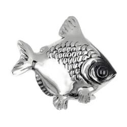 Zierfigur Fisch in echt Silber 925, Standmodell