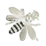 Brosche Biene in echt Sterling-Silber 925 weiß