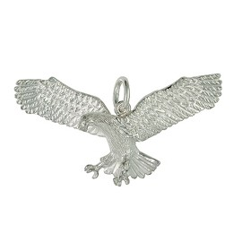 Anhänger Adler in echt Sterling-Silber, Ketten- oder Schlüssel-Anhänger
