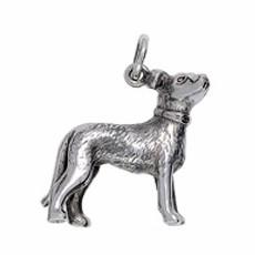 Anhänger Chinesischer Hund, Tierkreiszeichen in echt Sterling-Silber 925 oder Gelbgold, Ketten- oder Schlüssel-Anhänger