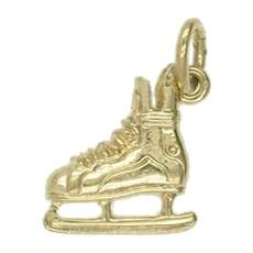 Anhänger Eishockeyschlittschuh in echt Sterling-Silber 925 oder Gold, Charm, Ketten- oder Bettelarmband-Anhänger