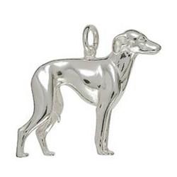 Anhänger Windhund in echt Sterling-Silber 925 oder Gelbgold 585, Ketten- oder Schlüssel-Anhänger