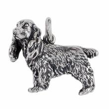 Anhänger Cocker Spaniel, Hund in echt Sterling-Silber 925 oder Gold, Ketten- oder Schlüssel-Anhänger