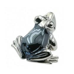 Zierfigur Frosch in echt Sterling-Silber 925, Standmodell